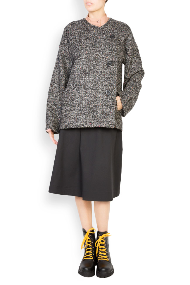 Side button embellished wool coat Undress image 0