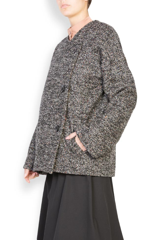 Side button embellished wool coat Undress image 1