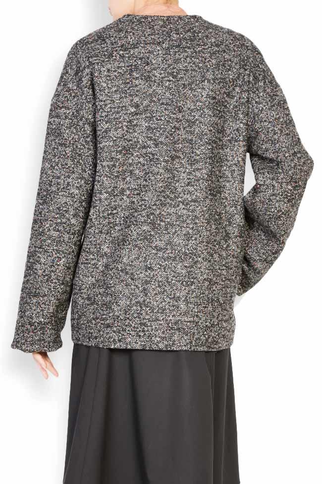 Side button embellished wool coat Undress image 2