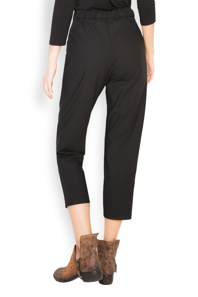 Cropped cotton blend pants Undress image 2