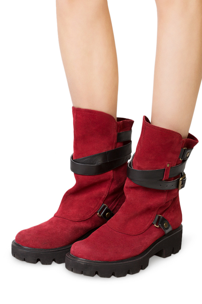 Buckled suede ankle boots Traces of Heels image 3