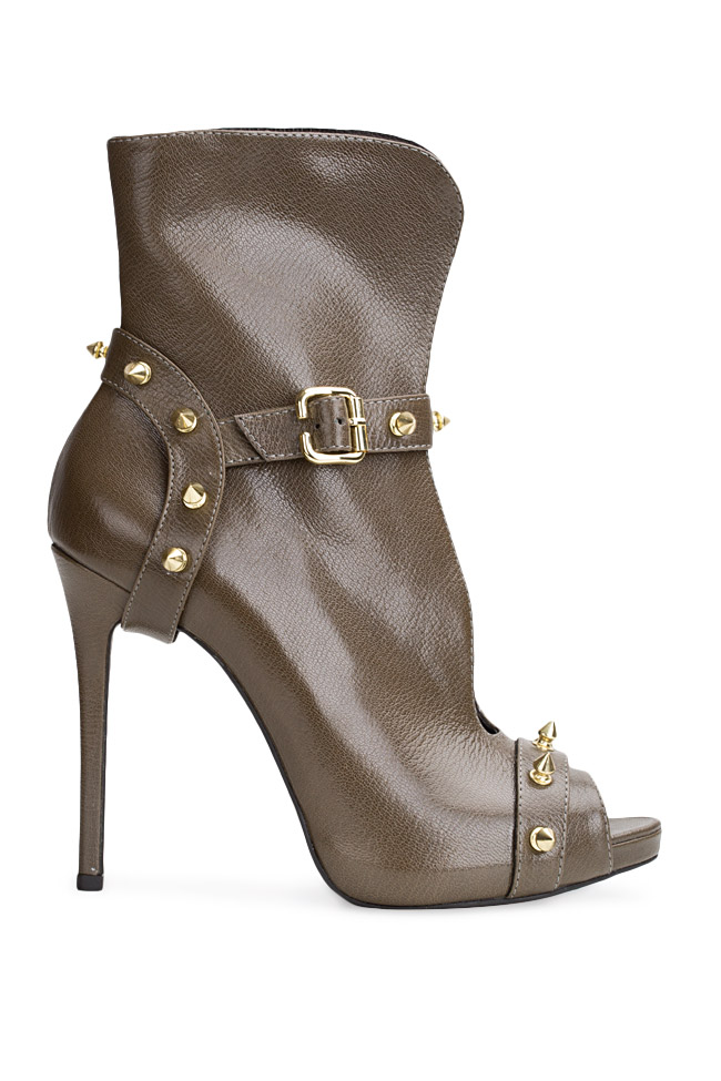Studded leather ankle boots  Traces of Heels image 0