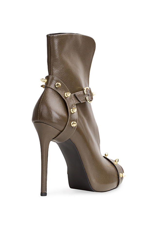Studded leather ankle boots  Traces of Heels image 1
