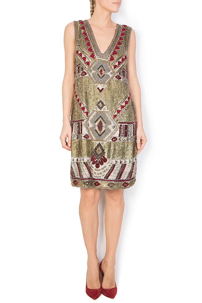 Embellished sequin mini dress Aje Aester image 0