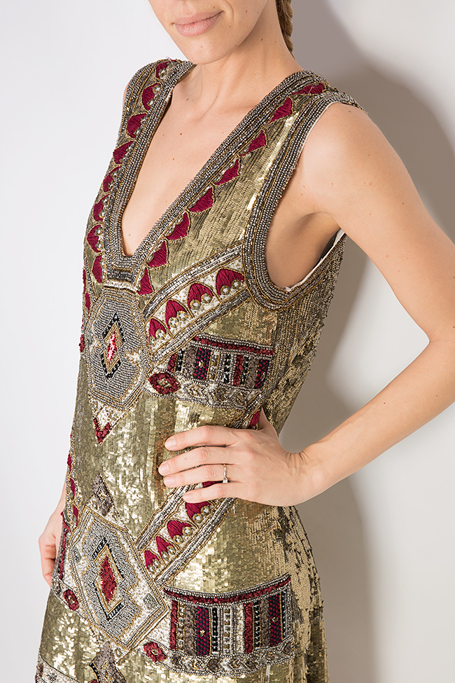 Embellished sequin mini dress Aje Aester image 3