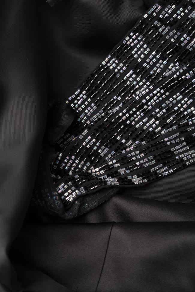 Rochie din tafta cu colier detasabil Ivone Mirela Pellegrini imagine 5