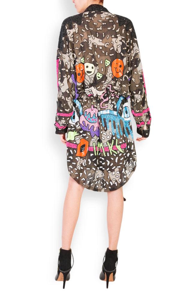 Camouflage matte sequins oversized jacket  Aje Aester image 2
