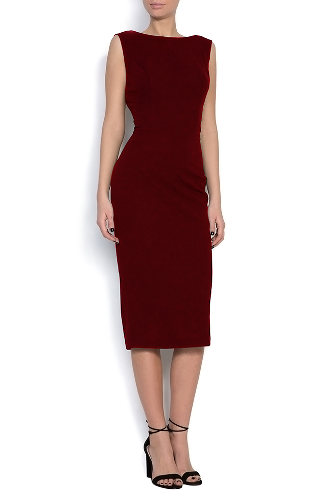 Open-back crepe midi dress Love Love  image 0