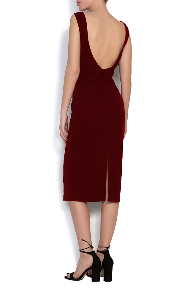 Open-back crepe midi dress Love Love  image 2