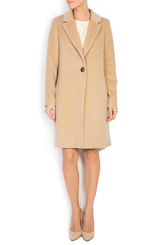 Palton din amestec de lana si casmir Elora Ascott imagine 0