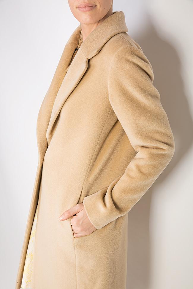 Palton din amestec de lana si casmir Elora Ascott imagine 3