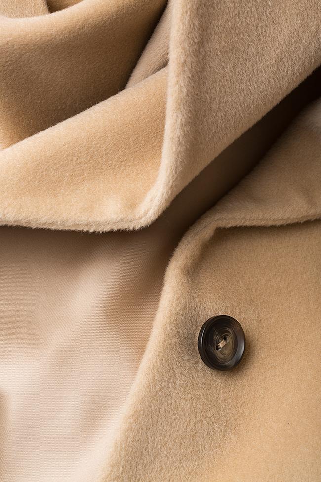 Palton din amestec de lana si casmir Elora Ascott imagine 4