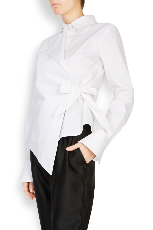 Asymmetric cotton poplin shirt DALB by Mihaela Dulgheru image 1