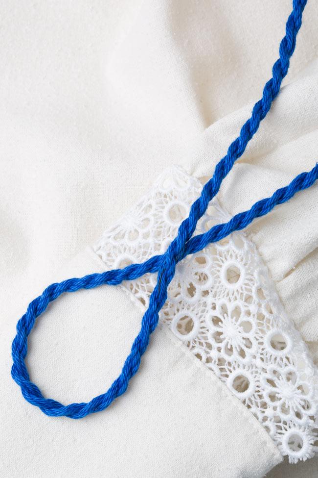 Hand-embroidered silk borangic blouse Izabela Mandoiu image 4