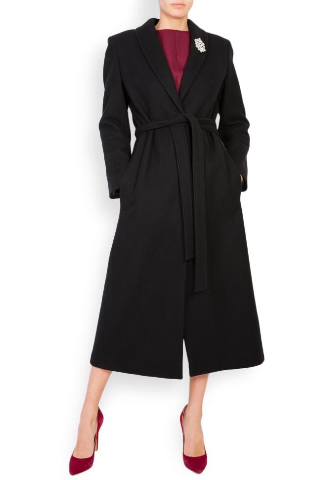 Palton din lana accesorizat Acob a Porter imagine 0