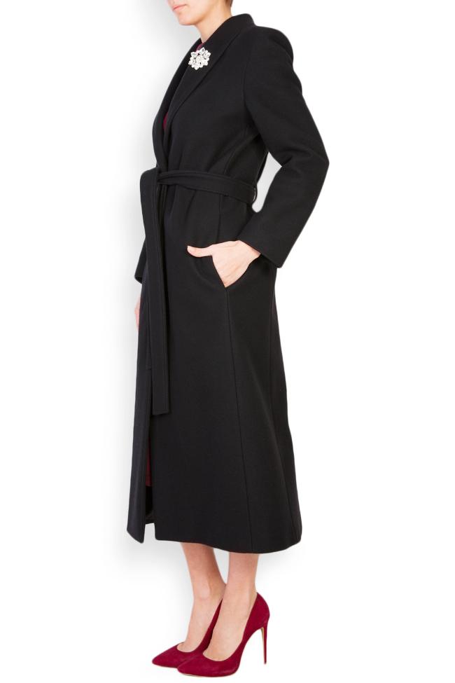 Palton din lana accesorizat Acob a Porter imagine 1