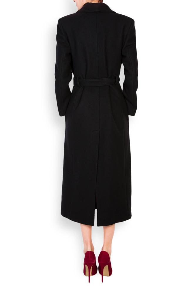 Palton din lana accesorizat Acob a Porter imagine 2