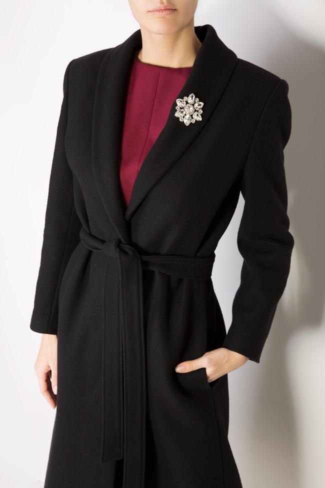 Palton din lana accesorizat Acob a Porter imagine 3