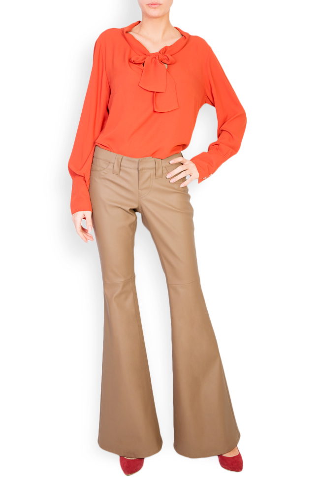 Faux leather flared pants Acob a Porter image 1