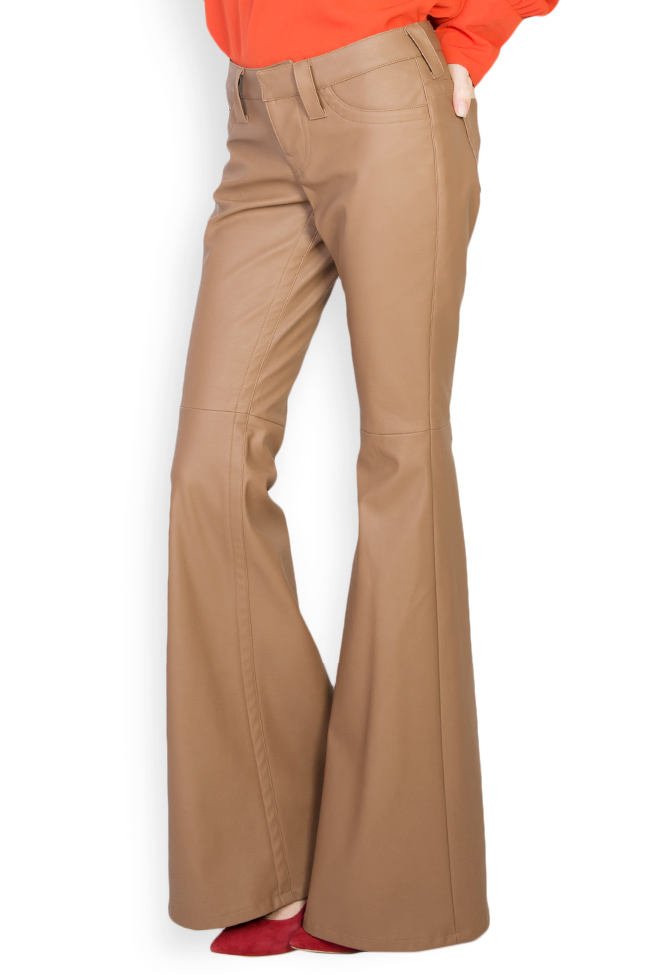 Faux leather flared pants Acob a Porter image 0