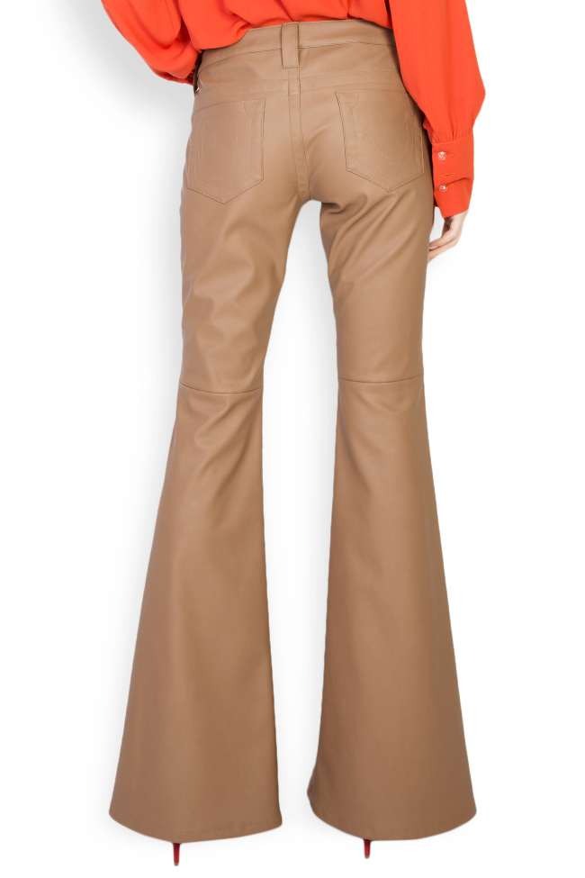Faux leather flared pants Acob a Porter image 2
