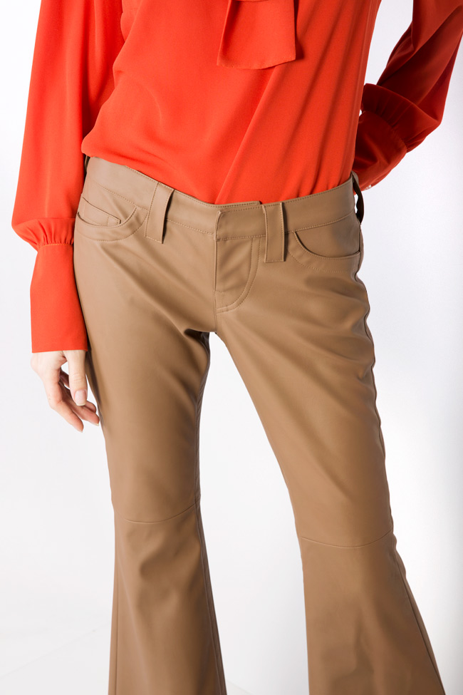 Faux leather flared pants Acob a Porter image 3