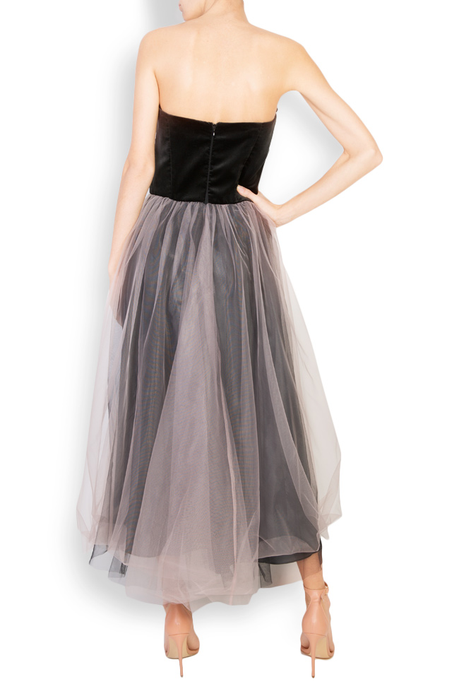 Rheea feather trimmed tulle cotton-velvet gown Mirela Pellegrini image 2