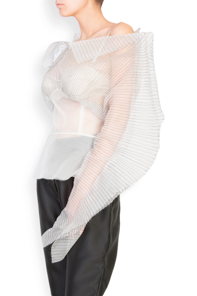 Bluza din organza de matase  LUWA imagine 1