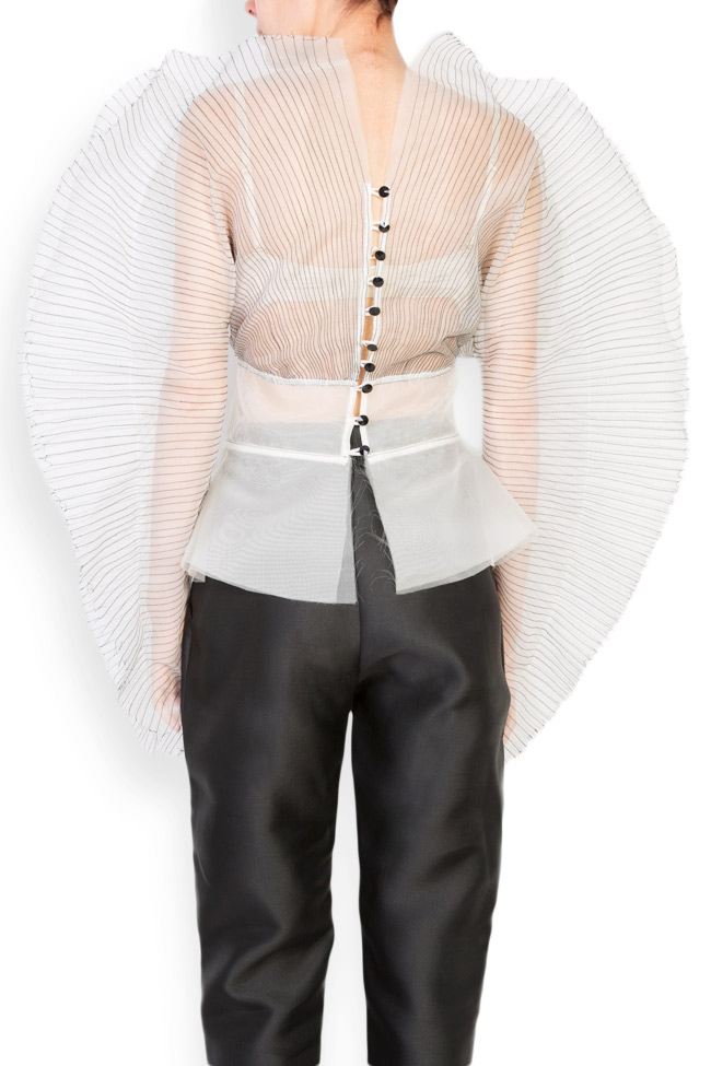 Bluza din organza de matase  LUWA imagine 2