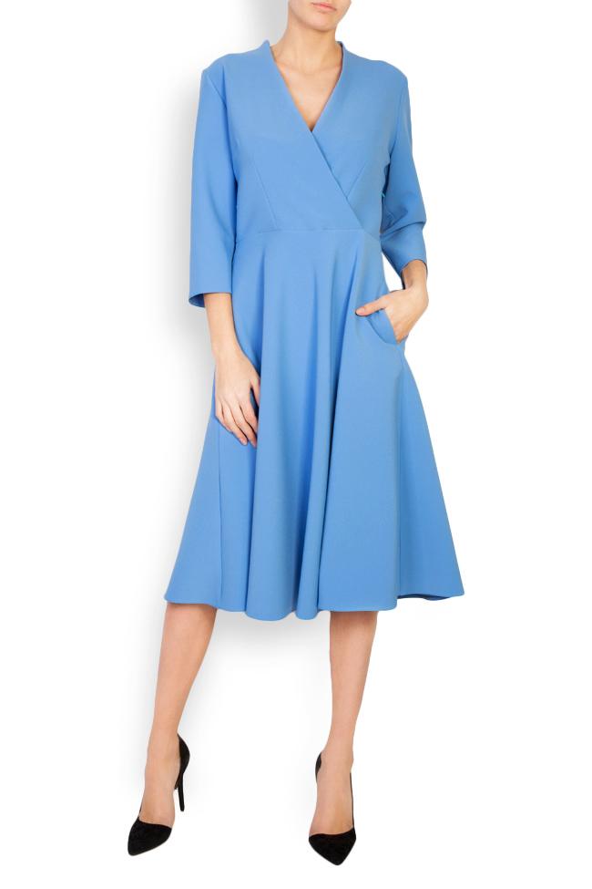 Trust wrap-effect crepe midi dress Couture de Marie image 0