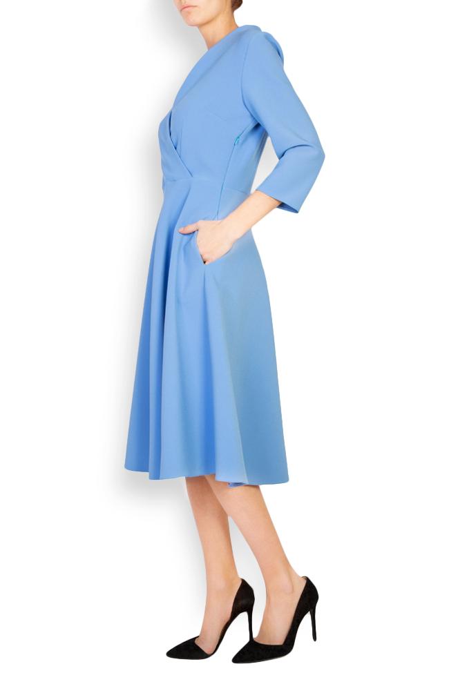 Trust wrap-effect crepe midi dress Couture de Marie image 1
