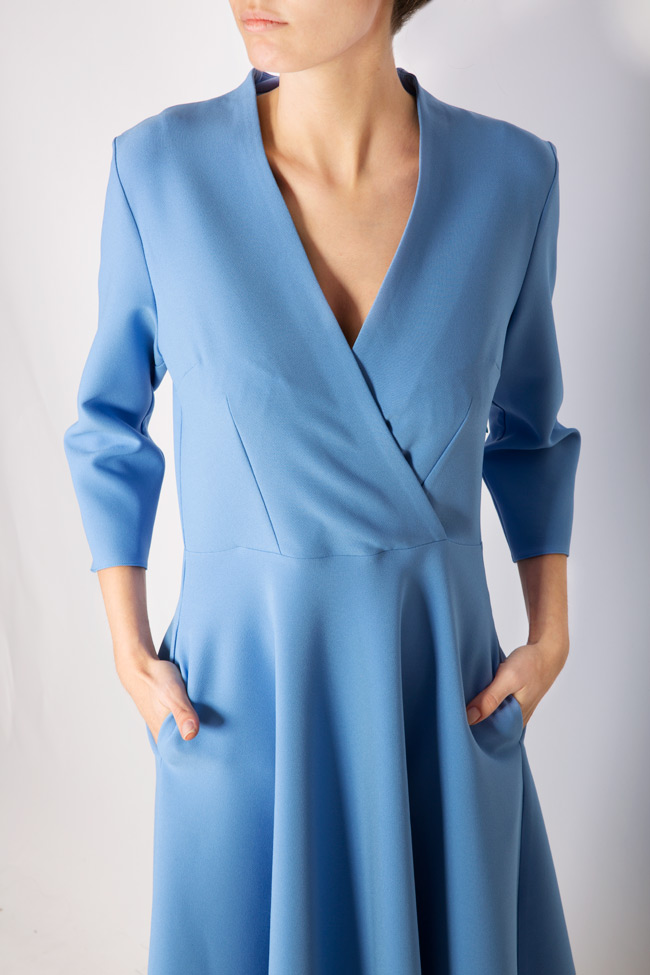 Trust wrap-effect crepe midi dress Couture de Marie image 3