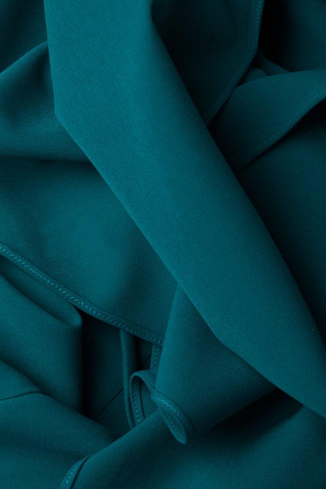 Rochie din crep cu efect de capa Edie Simona Semen imagine 4