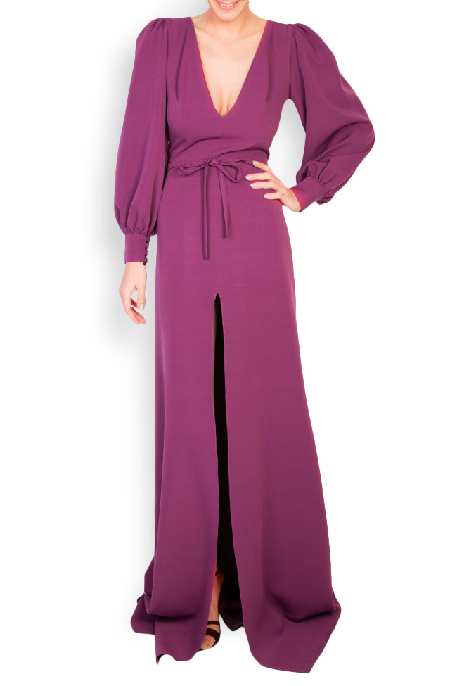 Edith button-embellished crepe gown Simona Semen image 0