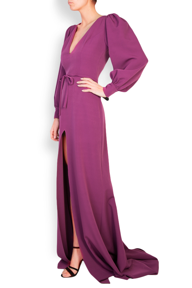 Edith button-embellished crepe gown Simona Semen image 1