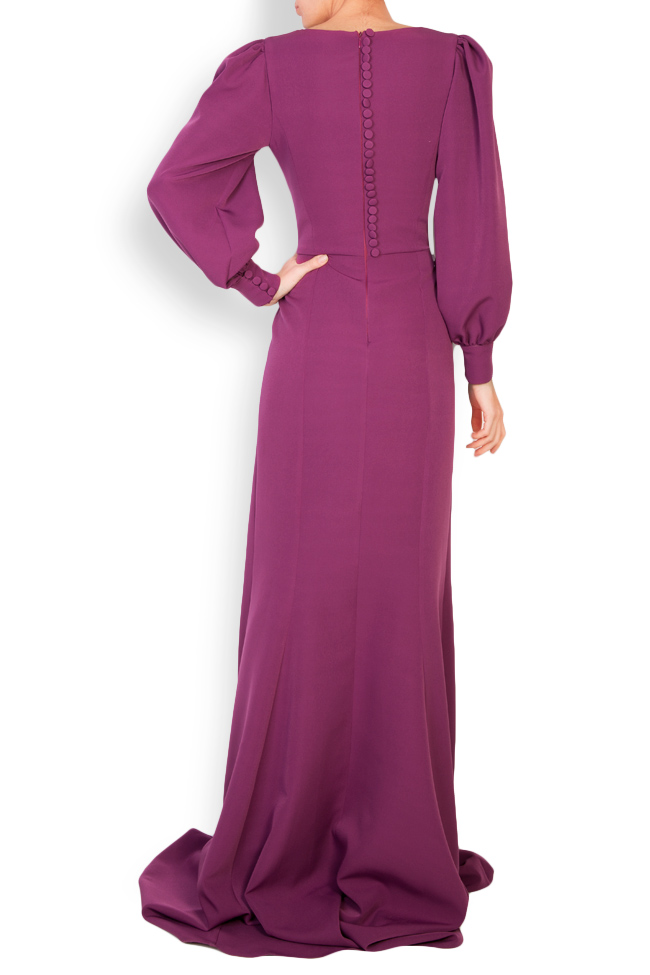 Edith button-embellished crepe gown Simona Semen image 3