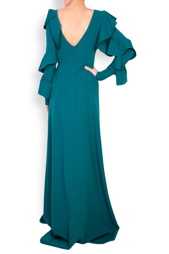 Eileen open-back ruffled crepe gown Simona Semen image 2