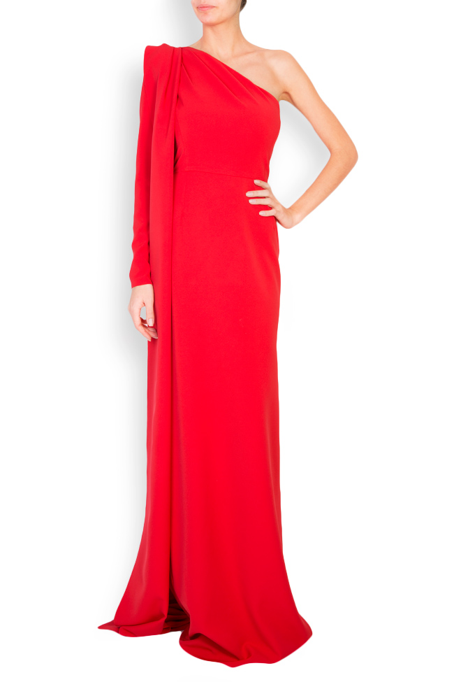 Eimy one-shoulder stretch-crepe gown Simona Semen image 0