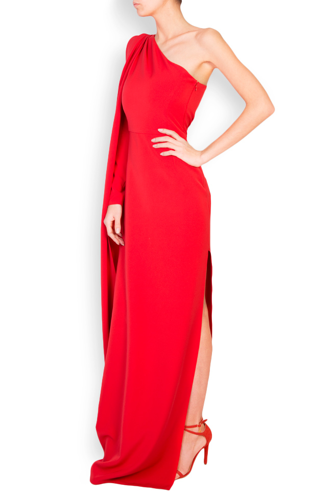 Eimy one-shoulder stretch-crepe gown Simona Semen image 1