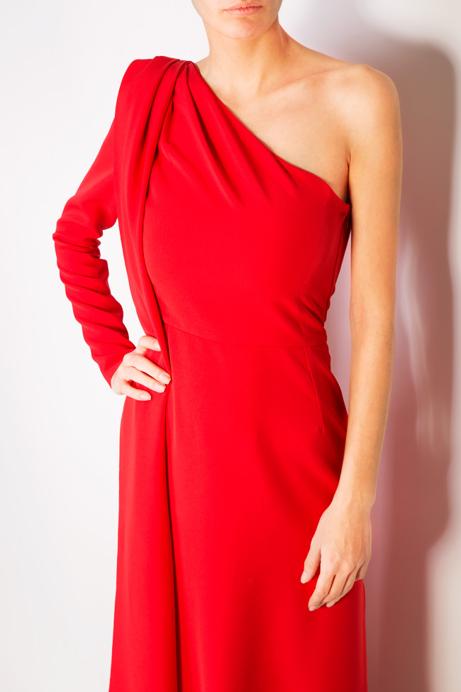 Eimy one-shoulder stretch-crepe gown Simona Semen image 3