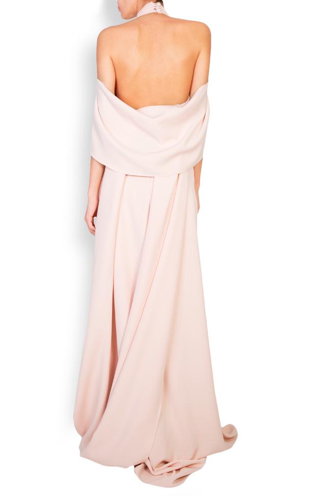 Elaine cape effect halterneck crepe gown Simona Semen image 2