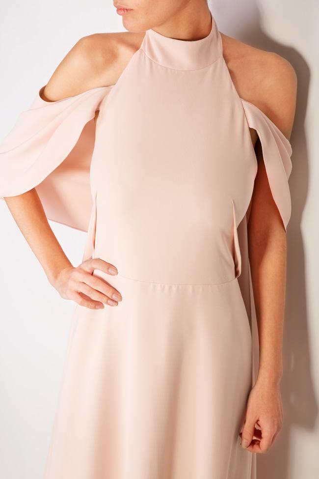 Elaine cape effect halterneck crepe gown Simona Semen image 3
