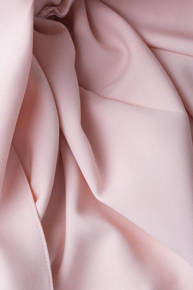 Elaine cape effect halterneck crepe gown Simona Semen image 4