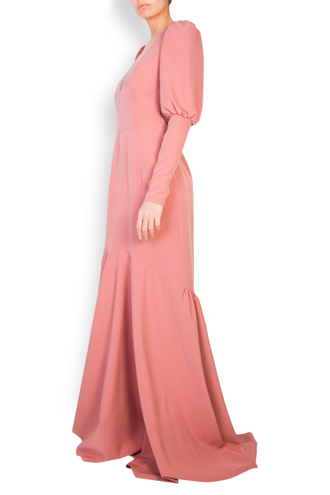 Elara open-back tulle-paneled crepe gown Simona Semen image 1