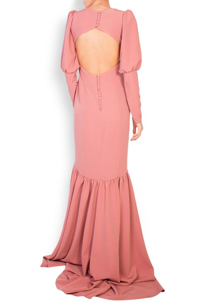 Elara open-back tulle-paneled crepe gown Simona Semen image 2