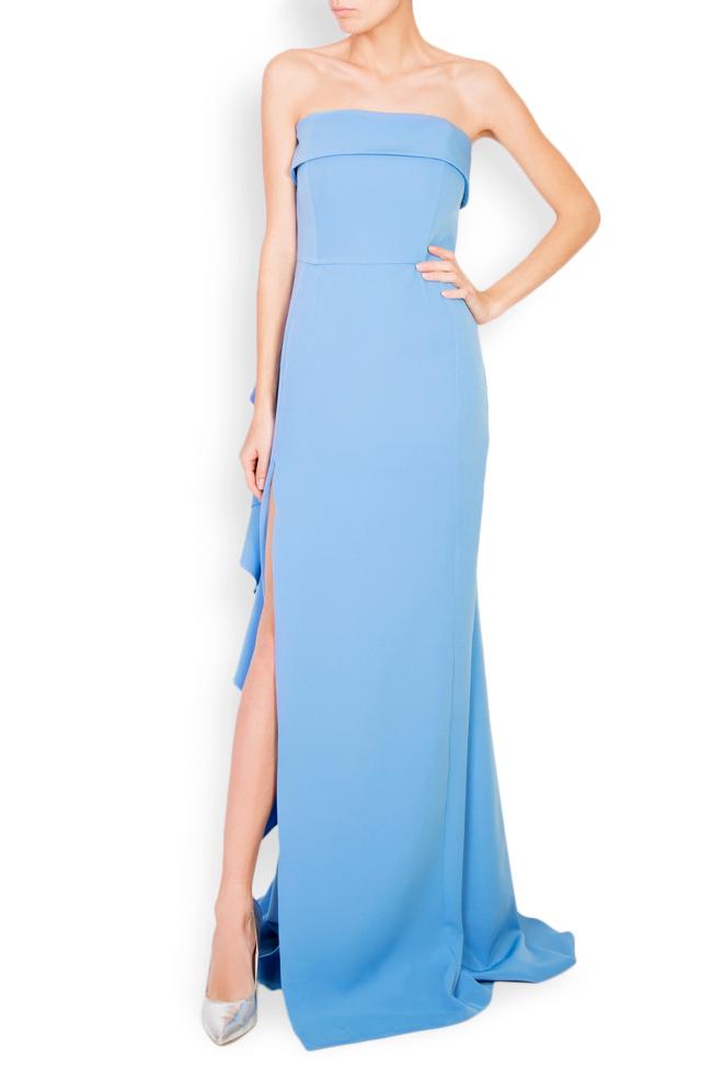 Eleanor ruffled stretch-crepe maxi dress Simona Semen image 0