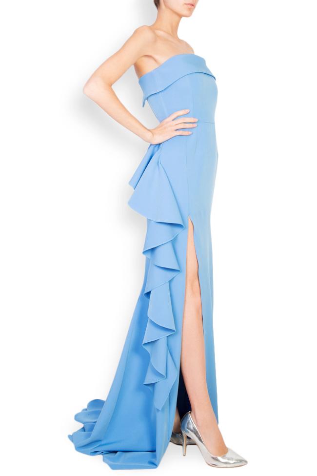 Eleanor ruffled stretch-crepe maxi dress Simona Semen image 1