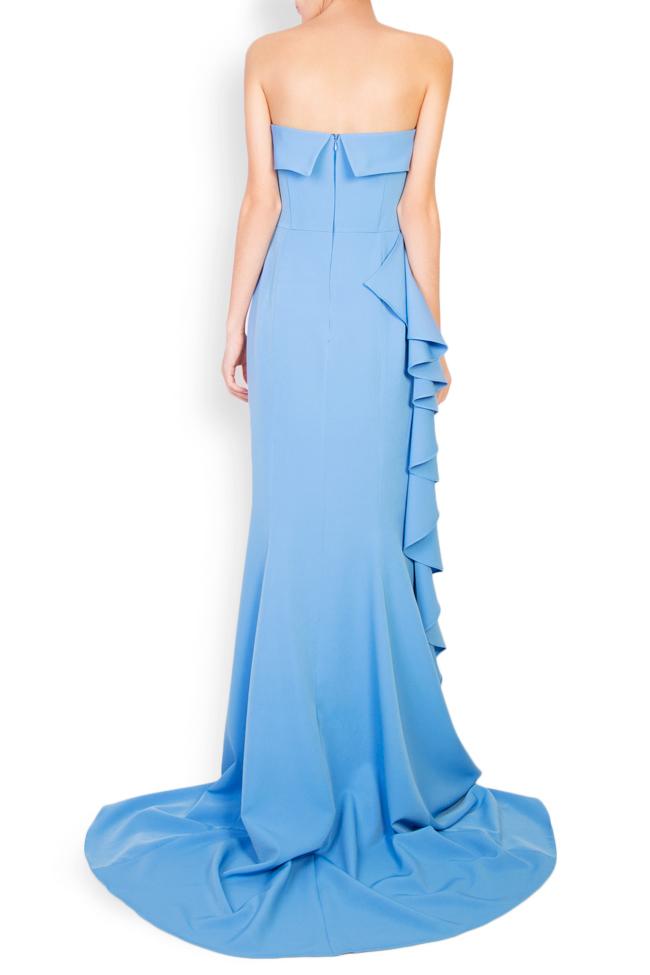 Eleanor ruffled stretch-crepe maxi dress Simona Semen image 2