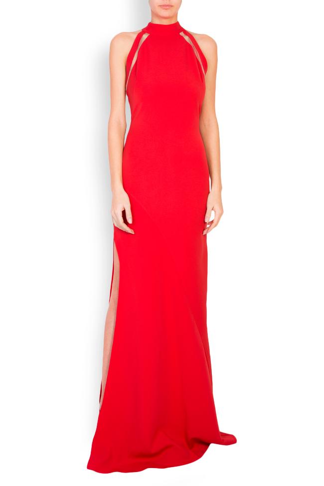 Eiza tulle-paneled crepe maxi dress Simona Semen image 0