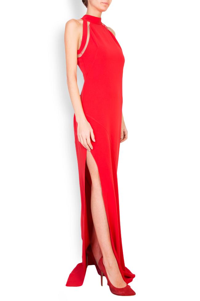 Eiza tulle-paneled crepe maxi dress Simona Semen image 1